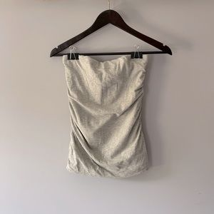 3 for $20 || Cotton NWT sleeveless strapless top in grey sz M